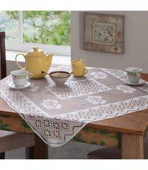 kit 4 toalhas de mesa renda 4 lugares  branco - bene casa - estampado - dafiti