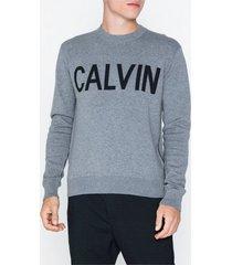 calvin klein jeans calvin cn sweater tröjor grå