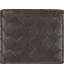 bottega veneta plain woven wallet