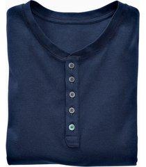 shirt met knoopsluiting en korte mouwen, marine xxl