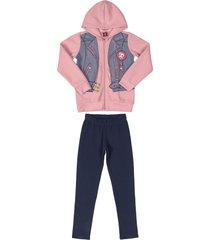 conjunto rosa-azul bee loop