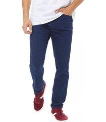 jeans slim spandex i azul - hombre corona