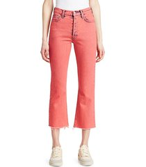 the tripper crop fray hem flare jeans