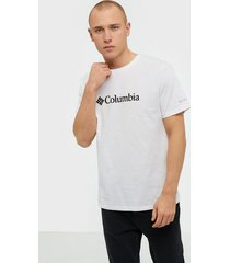 columbia csc basic logo short sleeve t-shirts & linnen white