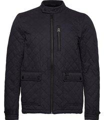 city microfibre quilt jacket kviltad jacka blå superdry