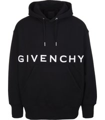 man black givenchy 4g oversize hoodie