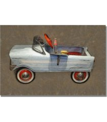 "michelle calkins 'tee bird pedal car' canvas art - 32"" x 22"""