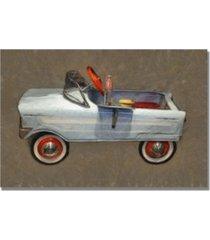 "michelle calkins 'tee bird pedal car' canvas art - 32"" x 22"""