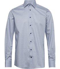 micro flower shirt skjorta business blå eton
