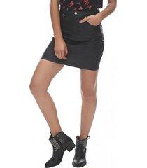 falda engomada mujer negro corona