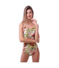 maiô simony lingerie cavado com bojo trilobal beach verde