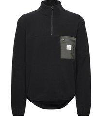 pullover recycled polyester sweat-shirts & hoodies fleeces & midlayers zwart resteröds