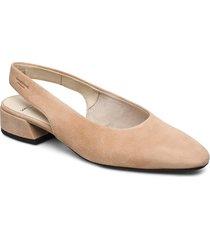joyce shoes heels pumps sling backs beige vagabond