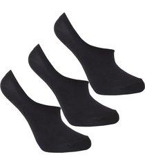 medias tipo baleta negras invisibles diseño uou socks pack x 3 und envio gratuito