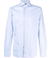 barba spread-collar shirt - blue