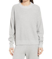 women's treasure & bond thermal stitch pullover, size xx-small - grey
