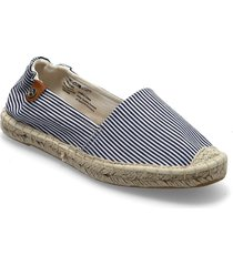 woms slip-on sandaletter expadrilles låga blå tamaris
