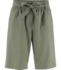 shorts in misto lino con cintura (verde) - bpc bonprix collection