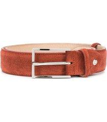 doucal's textured buckled belt - brown
