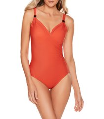 women's miraclesuit razzle dazzle siren one-piece swimsuit, size 6 - orange