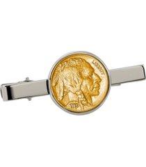 american coin treasures gold-layered buffalo nickel coin tie clip