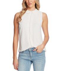cece clip-dot collared blouse