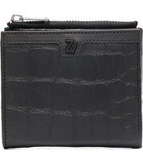 zadig & voltaire klelia square wallet - black