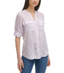 calvin klein paisley-print shirt