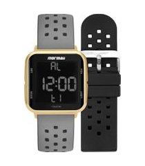 relógio digital mormaii feminino - mo6600ait8a dourado