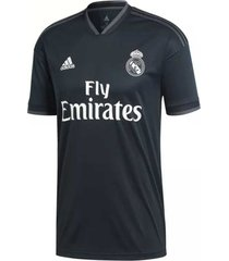 camiseta negra adidas real madrid 2018 away jersey tech onix / bold onix / white cg0584