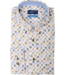 bos bright blue overhemd multicolor borstzak 20307wi36bo/500 multicolour