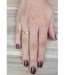 anel papillô joias pontos luz ajustável, em ouro 18k