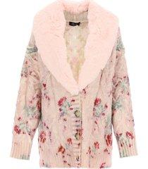 blumarine roses cardigan