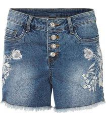 shorts di jeans ricamati (blu) - bodyflirt