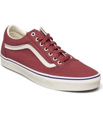 ua old skool låga sneakers röd vans
