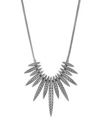 'classic chain tiga' silver spear pendant necklace