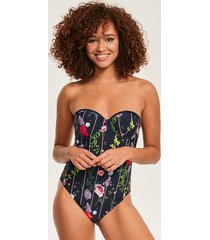 hedgerow underwire cupped bandeau one-piece swimsuit