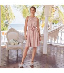 sundance catalog women's rae dress in blush large