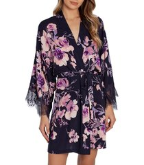 women's midnight bakery lace trim floral robe