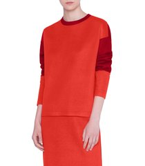 women's akris punto two-tone jersey sweatshirt