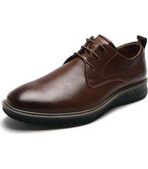 zapato casual de amarrar marrón pierre cardin pc8662-b