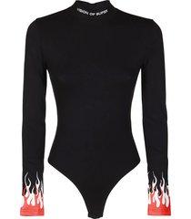 black cotton bodysuit