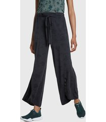 pantalón de buzo desigual fluido studio 84 negro - calce regular