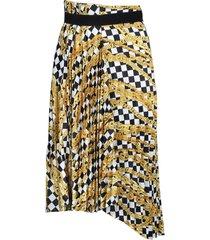 checkered chain print skirt