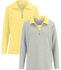 sweatshirt dress in geel::wit::grijs