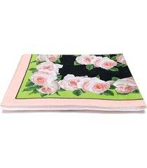 dolce & gabbana toalha de praia com estampa floral - preto