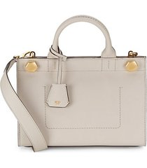 bow accented leather crossbody bag