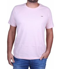 camiseta masculina bã¡sica via paula algodã£o rosa beb㪠- rosa - masculino - dafiti
