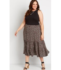 maurices plus size womens ditsy floral midi skirt