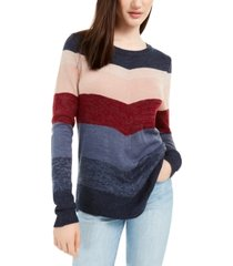 bcx juniors' mitered-stripe sweater